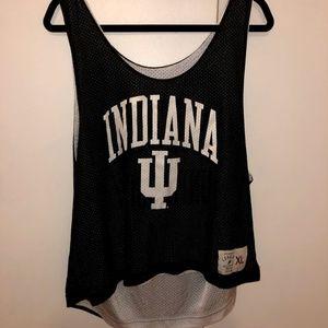 Tops - Black and White Indiana IU Pinnie